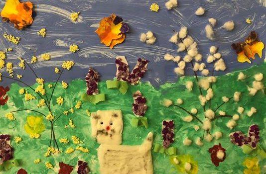 """Ausstellungseröffnung von Bildern der Kinder unser Integrativen Kindertagesstätte """"Pusteblume"""""""