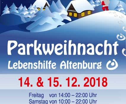 Parkweihnacht 2018 in Altenburg