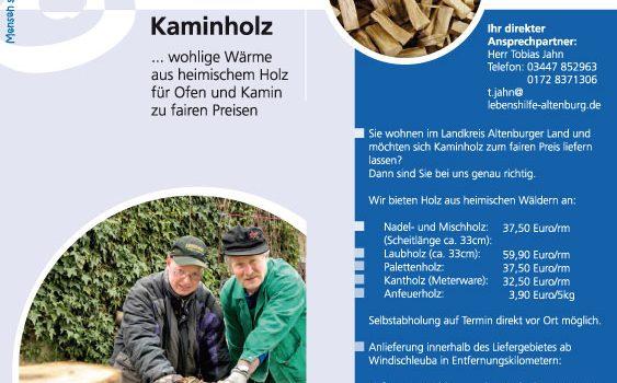 """""""Anfeuerholz Kiefer/Fichte"""" derzeit sofort lieferbar"""