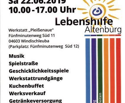 Die Lebenshilfe Altenburg e.V. lädt zum Sommerfest nach Windischleuba ein